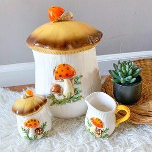 Vintage Merry Mushroom Sears Roebuck Canister Set